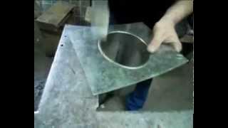 Врезка трубы из тонколистовой стали в плоскость 1 серия(Один из способов врезки трубы из тонколистовой стали в пластину из такой же стали. В данном случае использу..., 2013-06-26T17:00:22.000Z)