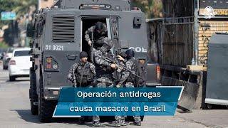 El enfrentamiento entre agentes antidrogas y residentes de la Favela do Jacarezinho ha durado más de 7 horas y ha dejado al menos 5 heridos, entre ellos 3 policías
