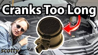 How To Fix A Car That Cranks Too Long (Mass Air Flow Sensor)