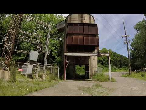 Abandoned Limestone Dumping Tipple Funnel Shoot In Wampum PA.