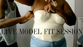 Showing You How I Fit A Bra Cup Bodice On A Plus Size Model