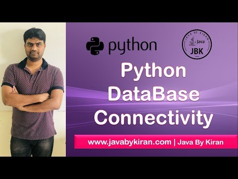 Python DataBase Connectivity-By Kiran Sir-JAVA By Kiran,Pune