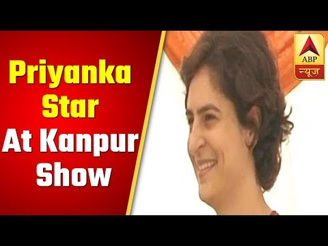 Priyanka Gandhi, a star campaigner at Kanpur's roadshow