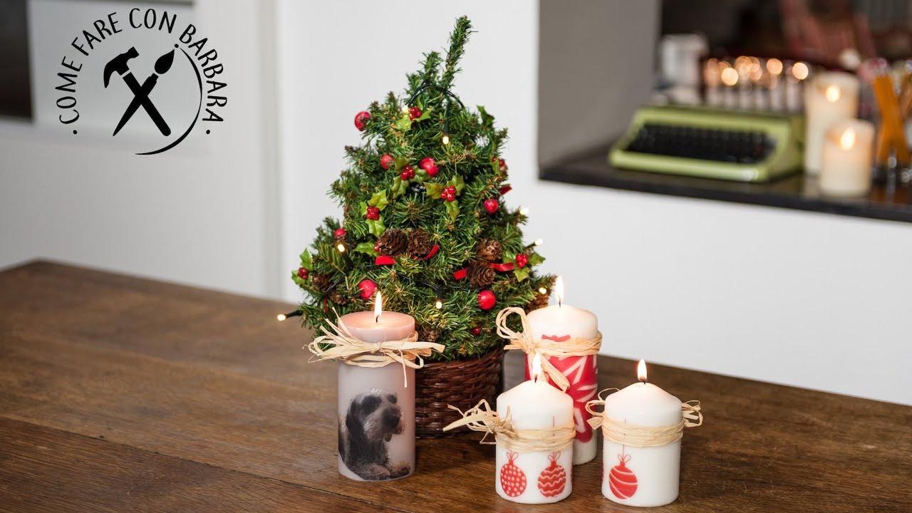 Lavoretti Di Natale Con Le Candele.Candele Natalizie Fai Da Te Con Trasferimento Di Immagine