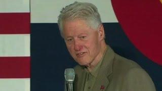 Bill Clinton reacts to Melania Trump's bullying speech