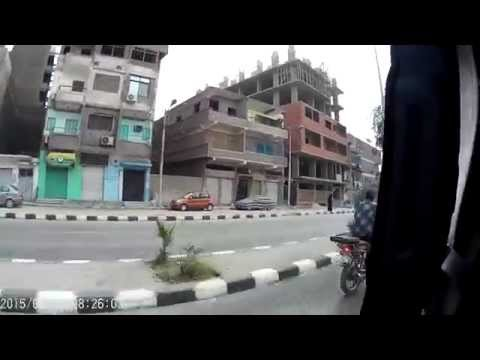 Ordinary street view in Luxor Egypt 1080 HD