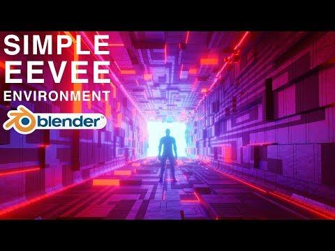 Blender - Simple Eevee Environment For Beginners! (Blender 2.8)
