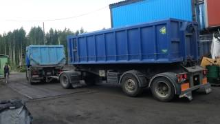 Rigid truck with trailer reversing