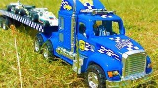 TOY TRUCK TRANSPORTATION FORMULA 1 RACING CARS