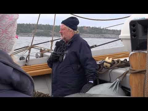 Jan Olsen under Örn- och sälsafari med Tre Kronor af Stockholm