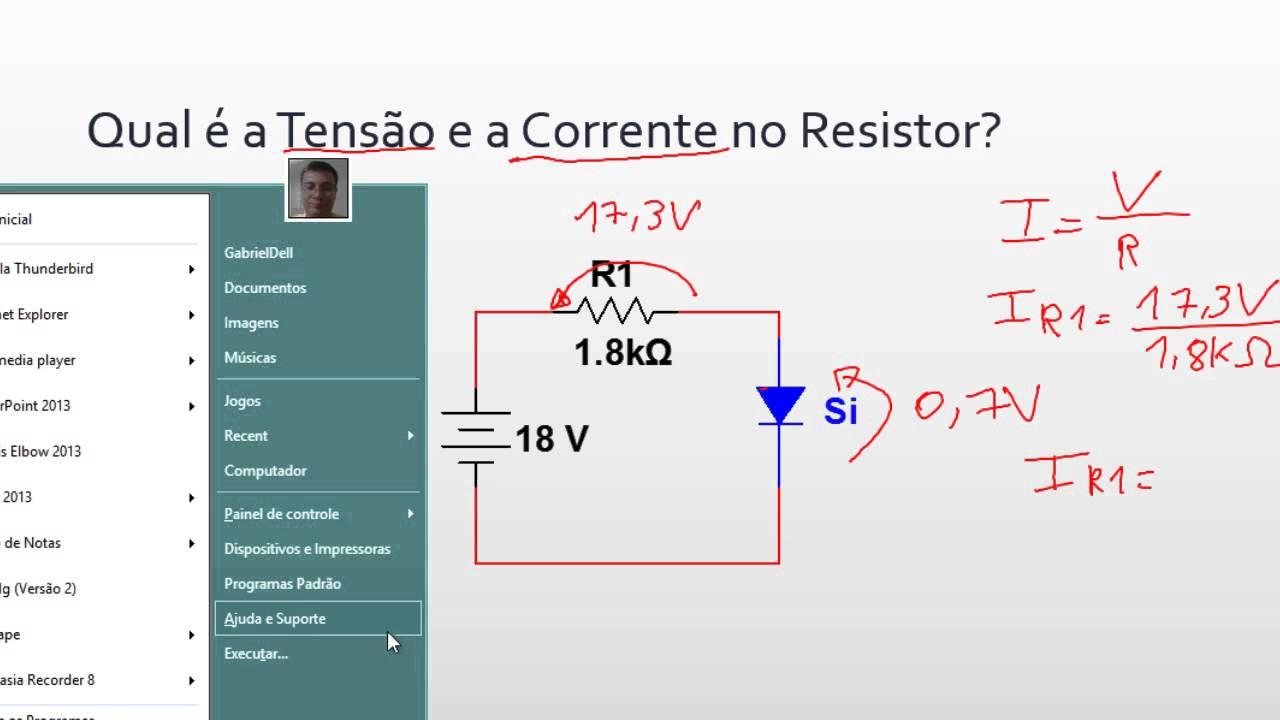 Circuito Cc : Aula circuitos cc com diodo youtube