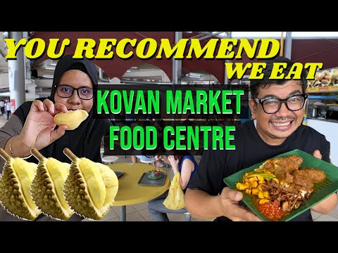 Eating Food RECOMMENDED BY YOU At Kovan Food Centre | Singapore Hawker Food