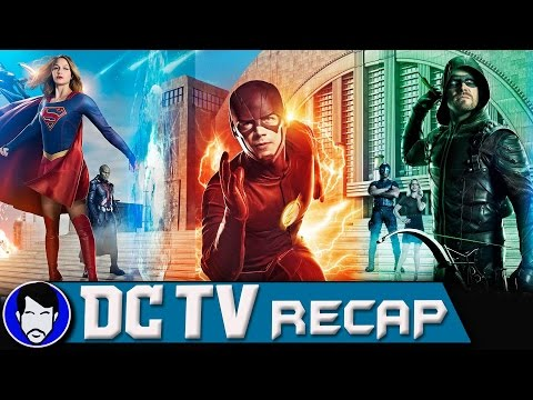The Flash Arrow Supergirl Legends Crossover Review | DCTV Recap