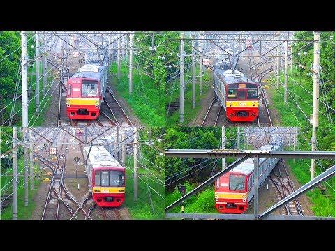 4 KRL Commuter Line Keluar Dipo Depok - (KRL TM 6000, KRL JR 203 & KRL TM 05)