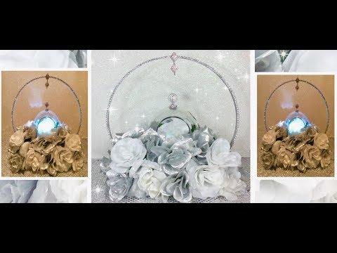 diy-wooden-embroidery-hoop-wedding-centerpiece/-silver-&-white-floral-arrangement