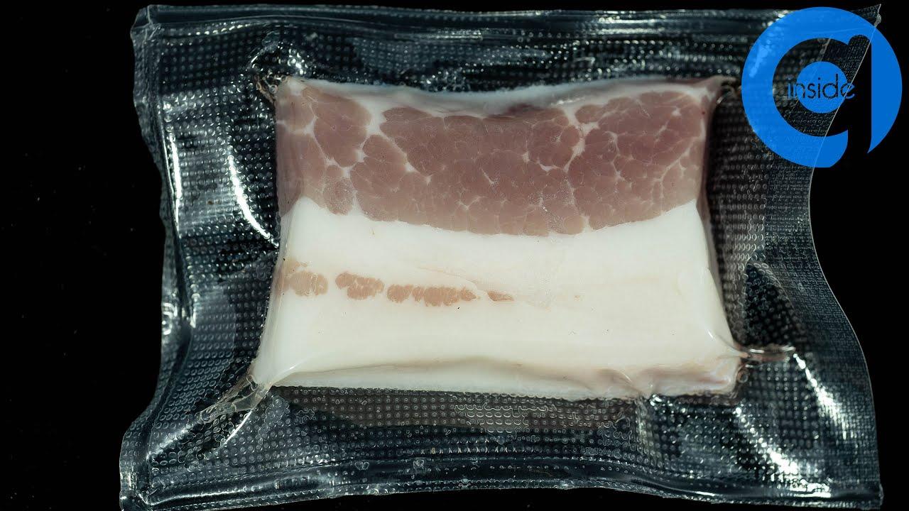Pork In Vacuum Bag Time Lapse
