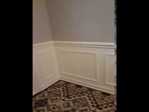 Shadow Box Wainscoting Crown Molding Radius Moldings - YouTube