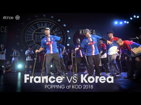 France vs Korea [popping] // .stance x KOD World Finals 2018