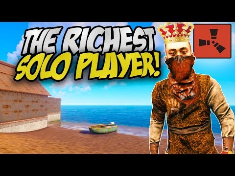 BECOMING the RICHEST SOLO PLAYER! - Rust Solo Survival Gameplay