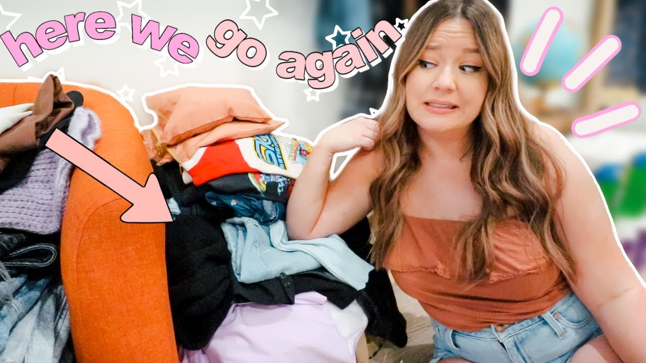 getting rid of HALF of my clothes (before i move)! CLOSET DECLUTTER