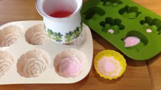 EASY DIYs SOAP MAKING-MELT AND POUR FLOWER SOAP FOR BATHROOM DECORATION-PART.1