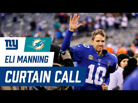 Eli Manning gets Standing Ovation & gives Locker Room Speech | Giants vs. Dolphins