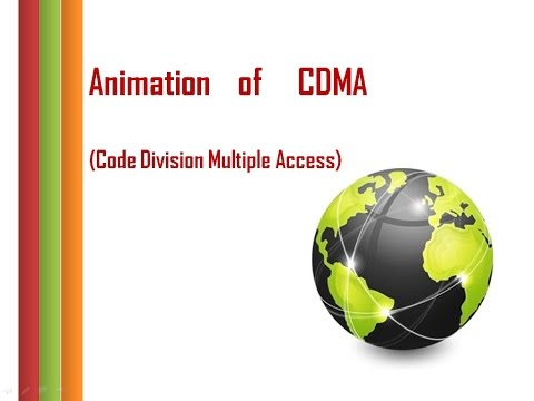 Animation of CDMA (Code Division Multiple Access) : Direct Sequence Spread Spectrum
