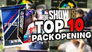 Top 10 BEST Pack Openings This Year! MLB The Show 18 Diamond Dynasty
