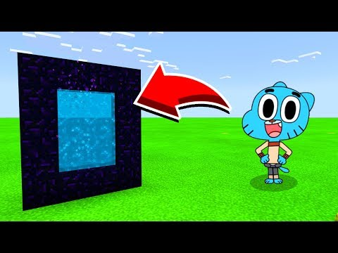 How To Make A Portal To GUMBALL In Minecaft Pocket Edition/MCPE