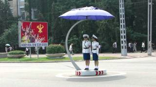 Pyongyang Traffic Lady Changing of the Guard