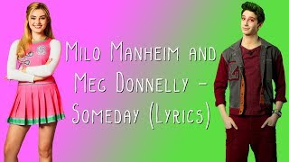 Download Milo Manheim and Meg Donnelly - Someday (Lyrics) Mp3 and Videos