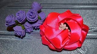 16 Необычный цветок канзаши. Видео МК.