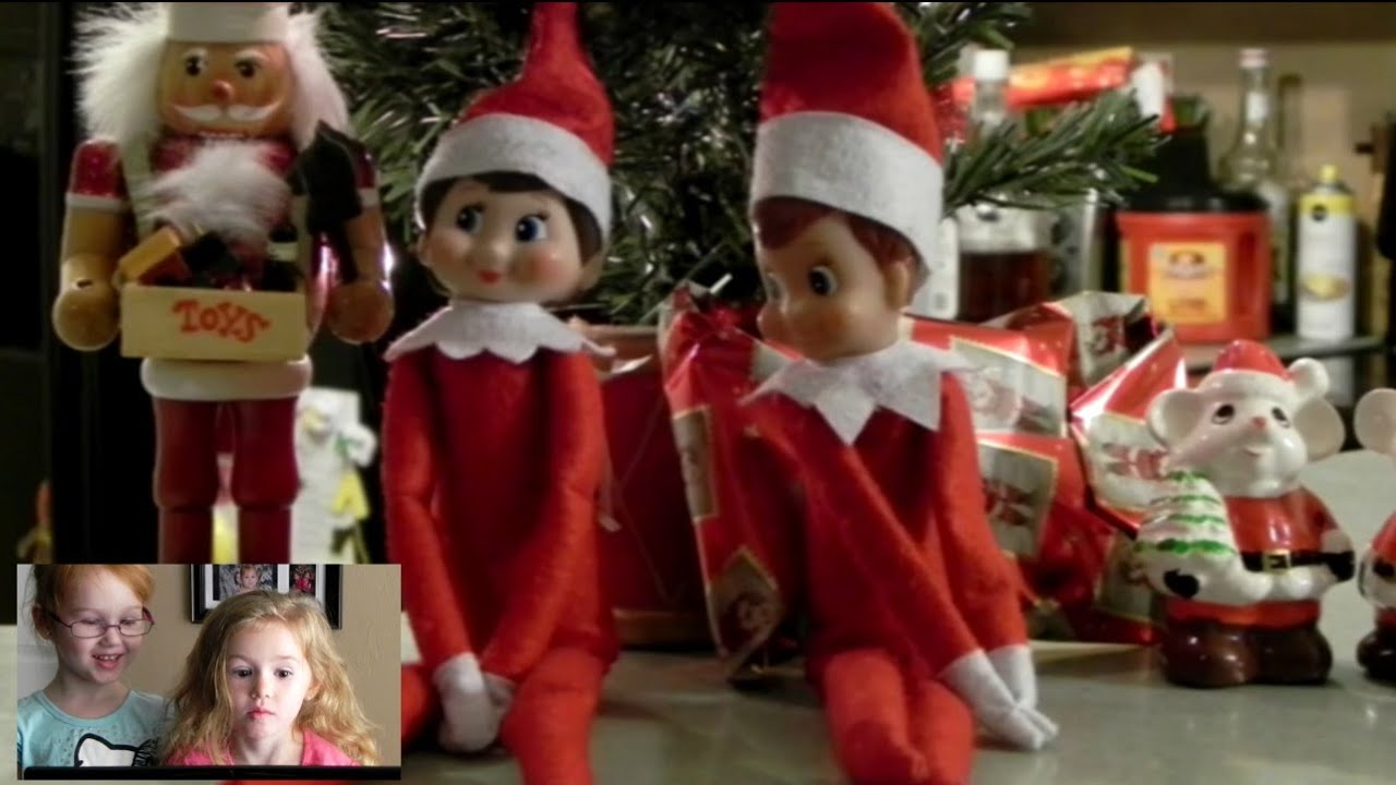 elf on the shelf caught flying kids reaction - YouTube