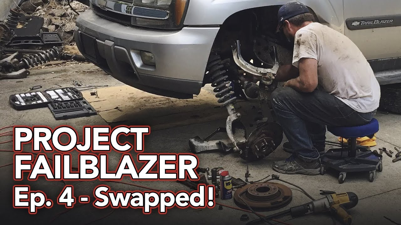 Trailblazer Lower Control Arms Support Brackets Replacement
