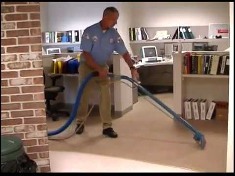 Cleaning Carpet In A Building Supply Company With Bane
