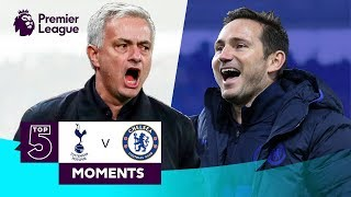 Spurs v Chelsea | Top 5 Premier League Moments | Kane, Hazard, Mourinho