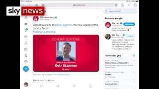 BREAKING: Sir Keir Starmer announced as new Labour leader