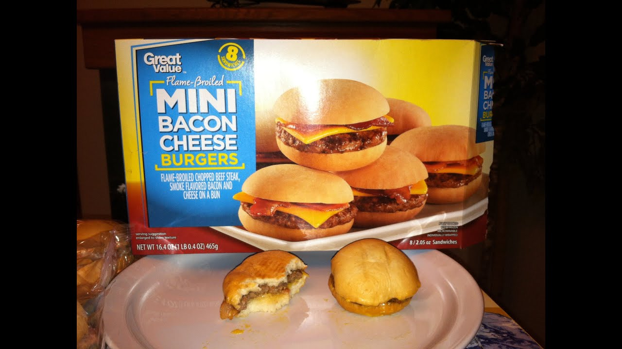 Walmart Great Value Flame Broiled Mini Bacon Cheese
