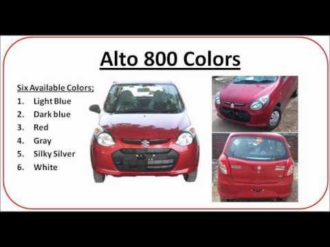New Alto 800 six color variants