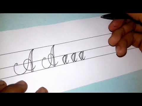 Belajar Menulis | Huruf dengan tulisan tangan