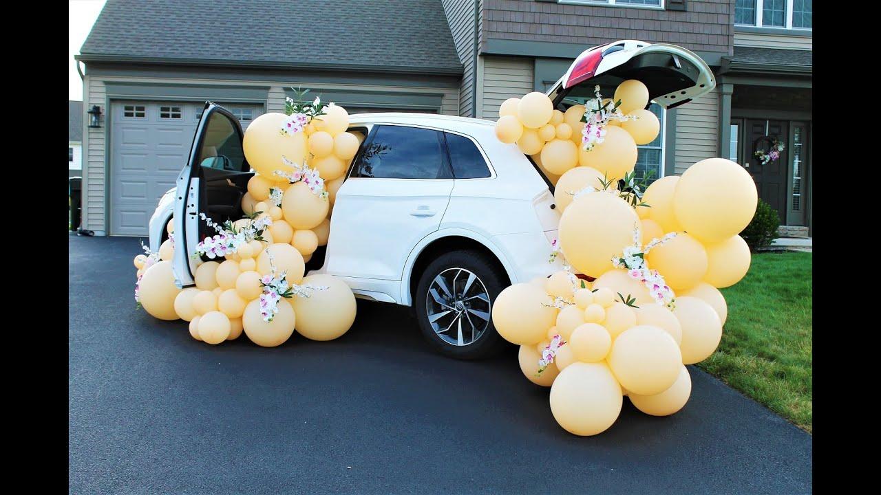 How To Balloon Garland DIY Tutorial   Car Set Up