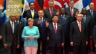 President Xi Jinping takes 'family photo' with world leaders at G20
