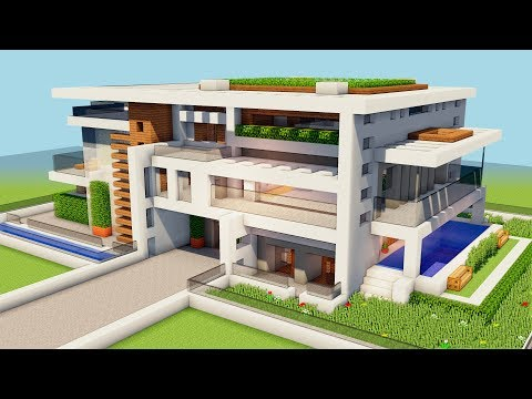 New Minecraft How To Build A Big Modern House Tutorial How To