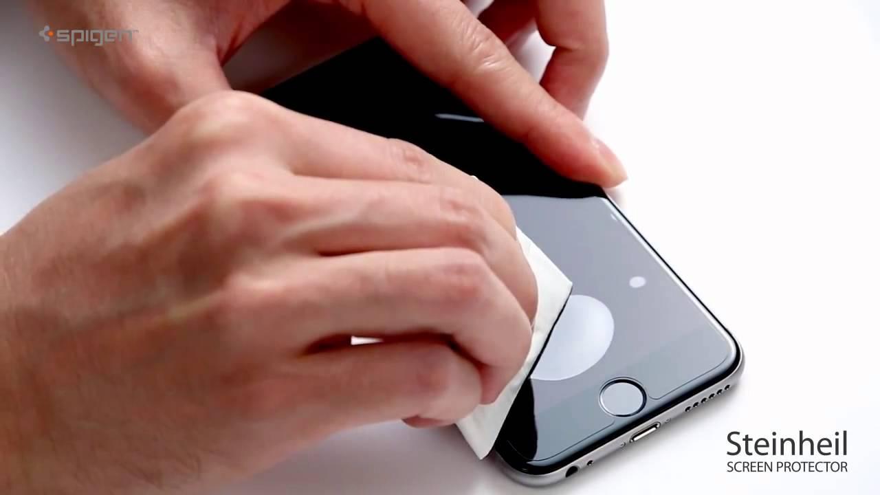 4d8b6cfa04af Поклейка защитной пленки на iPhone 6 i-Covers - YouTube