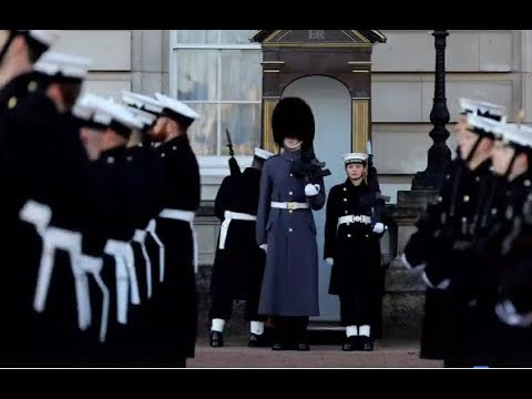 The Royal Navy Queens Guard at Buckingham Palace