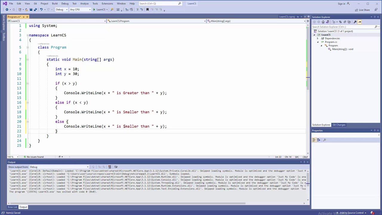 C# Tutorial - if..else if..else