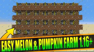 Minecraft Automatic Melon aฑd Pumpkin Farm 1.16+