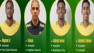 Convocados de Brasil Mundial Rusia 2018 Lista DEFINITIVA de Brasil Para Copa del Mundo 2018