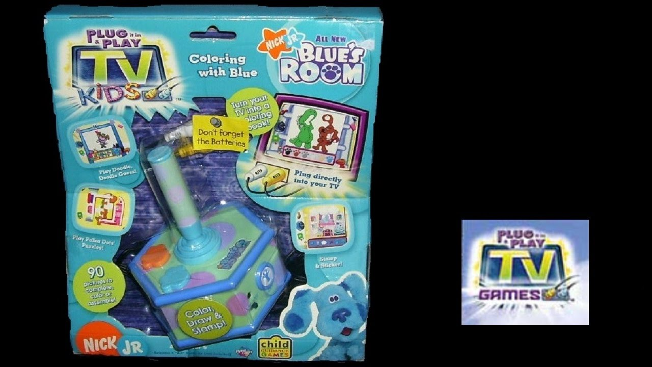 Blues Clues: Blue's Room (Plug & Play TV Game) (Gameplay ...