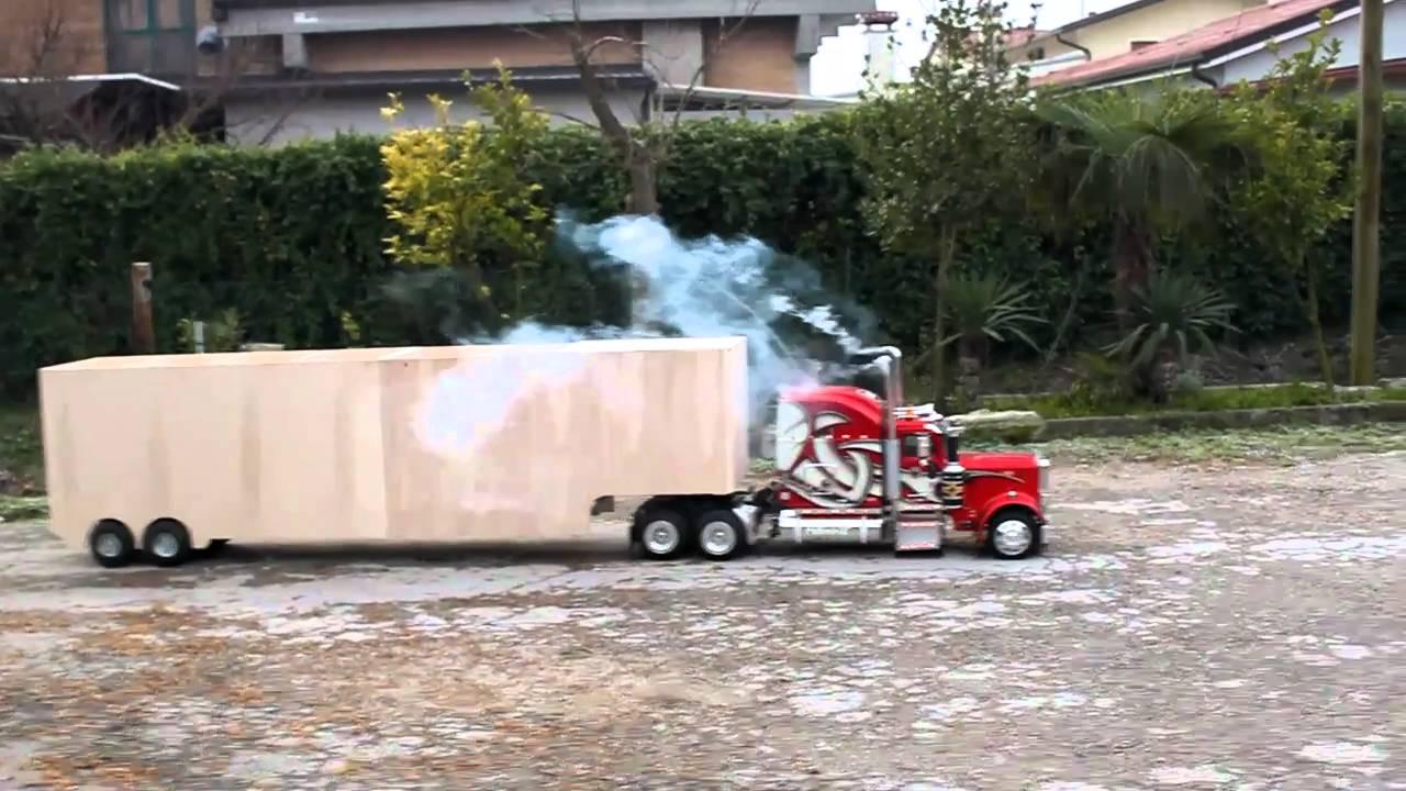 """ModelTruck Peterbilt 359 RC 1:4 """"Test Trailer 1"""" - YouTube"""